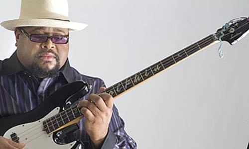 Bassist Dwayne Dolphin, one of the night's performers