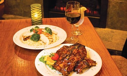 BBQ baby back ribs, and chicken and broccoli alfredo - RENEE ROSENSTEEL