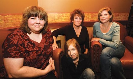 Becky Morrow, Rebecca Reid, Deb Urmann and Carolyn DeForest worked together to investigate Tiger Ranch. - HEATHER MULL