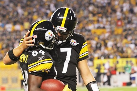 Ben Roethlisberger (7) and Antonio Brown (84) - PHOTO BY HEATHER MULL
