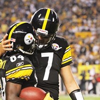 Ben Roethlisberger (7) and Antonio Brown (84)