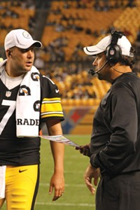 Ben Roethlisberger is getting used to new offensive coordinator Todd Haley. - PHOTO BY HEATHER MULL