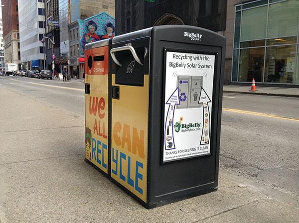 BigBelly Solar Trash Can