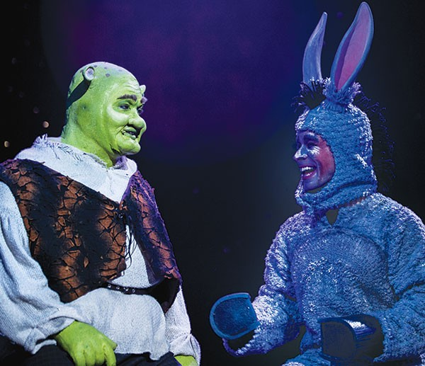 Billy Mason (left) and David Toole in Pittsburgh Musical Theater's Shrek The Musical.