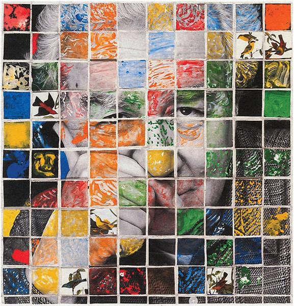 """Birdland,"" Qualters' self-portrait, made with Mark Perrott"