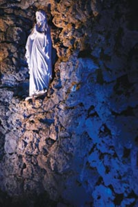 Blue-light special: The Lourdes Grotto at Duquesne - HEATHER MULL