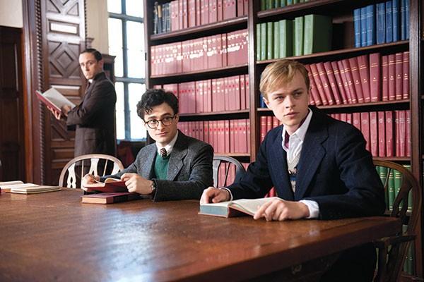 Boys among the books: William S. Burroughs (Ben Foster), Allen Ginsberg (Daniel Radcliffe) and Lucien Carr (Dane DeHaan)