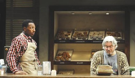 Brandon Gill and Anderson Matthews in Superior Donuts, at Pittsburgh Public Theater - PHOTO COURTESY OF PITTSBURGH PUBLIC THEATER