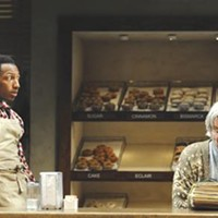Brandon Gill and Anderson Matthews in <i>Superior Donuts</i>, at Pittsburgh Public Theater