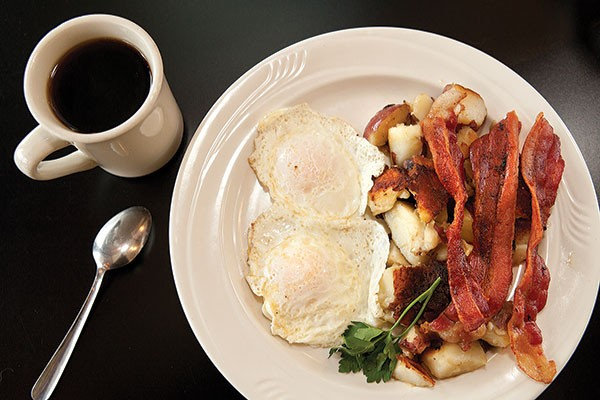Breakfast, with eggs over easy