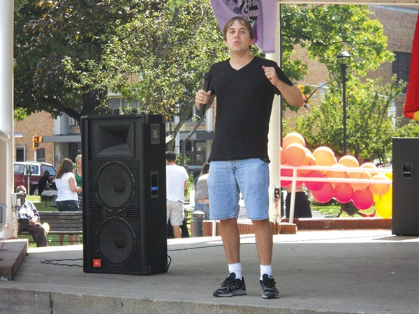 Brian Tee at a 2012 Pride rally in Erie