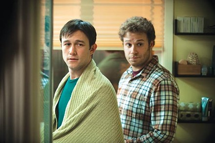 Buddies Joseph Gordon-Levitt and Seth Rogen confront cancer.