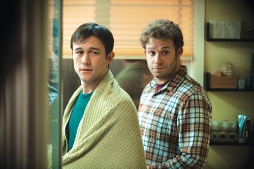 Buddies Joseph Gordon-Levitt and Seth Rogen confront cancer.