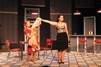 Caitlin Young and Moira Quigley in Bus Stop