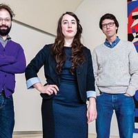 Carnegie International co-curators Dan Byers, Tina Kukielski and Daniel Baumann