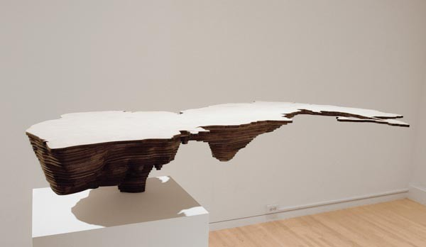 """Caspian Sea (Bodies of Water series),"" by Maya Lin."