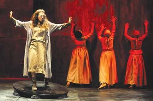 Catherine Eaton in Electra, at Pittsburgh Public Theater. - PHOTO COURTESY OF PITTSBURGH PUBLIC THEATER.