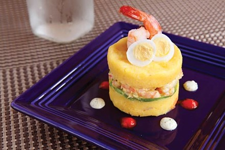 Causa de langostinos - PHOTO BY HEATHER MULL