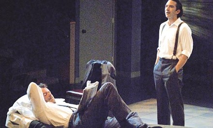 Cellar-dwellers: Michael Hanrahan (left) and Jarrod DiGiorgi in The Dumb Waiter, at PICT. - COURTESY OF DAISY BLOCK