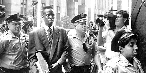 Center of the storm: Yusef Salaam, during the trial