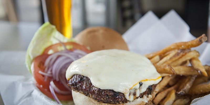 Barrel Junction Charbroiled cheeseburger Photo by Heather Mull