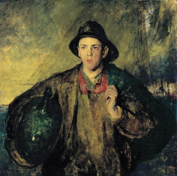 """Charles W. Hawthorne's 'The Fisher Boy' (1908)"" - IMAGE COURTESY OF NEW BRITAIN MUSEUM OF AMERICAN ART, JOHN BUTLER TALCOTT FUND"