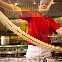 Everyday Noodles Chef Mao hand pulling noodles Photo by Heather Mull