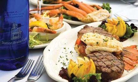 Chef's potpourri: lobster tail, black Angus filet mignon and center-cut loin lamb chop - PHOTO: BRIAN KALDORF