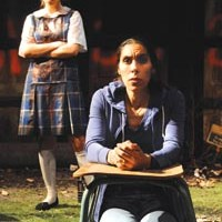 Chelsea Mervis (left) and Shammen McCune in the Playhouse REP's <i>Mercy and the Firefly</i>.