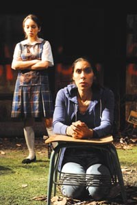Chelsea Mervis (left) and Shammen McCune in the Playhouse REP's Mercy and the Firefly. - PHOTO COURTESY OF DREW YENCHAK.