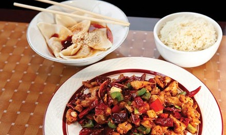 Chendu fried dry hot chicken and chongqing dumplings - HEATHER MULL