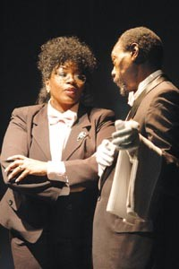 """Cheryl El Walker and Lonzo Green in """"The Powder Room,"""" part of the Theatre Festival in Black & White."""