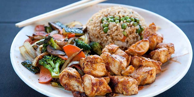 Kasai Chicken hibachi with vegetables and fried rice Photo by Heather Mull