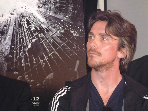 Christian Bale met the media to kick off the filming of The Dark Knight Rises. - PHOTO BY CHARLIE DEITCH