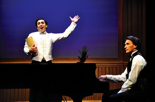 Christopher Tocco (left) and Bob Stillman in 2 Pianos 4 Hands, at City Theatre.