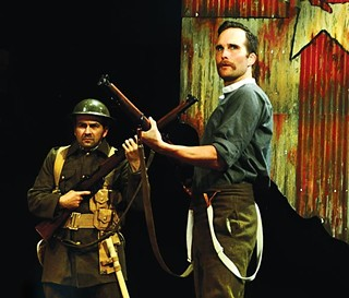Ciaran Byrne (left) and Raife Baker in PICT Classic's Observe the Sons of Ulster Marching Towards the Somme