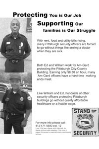 City-County Building guards Edward Millender and William Miller sought to unionize; when their pictures showed up on this flier, they say, it cost them their jobs.