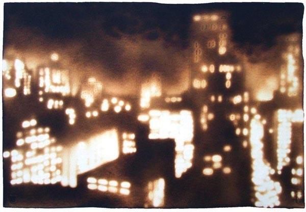 "City of night: Paul Chojnowski's ""Dusk From the Balcony."""