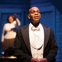 Jubilant Sykes (with Kecia Lewis in the background) in City Theatre's<i> Breath & Imagination</i>