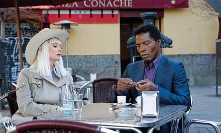Coffee for two: Tilda Swinton and Isaach De Bankol
