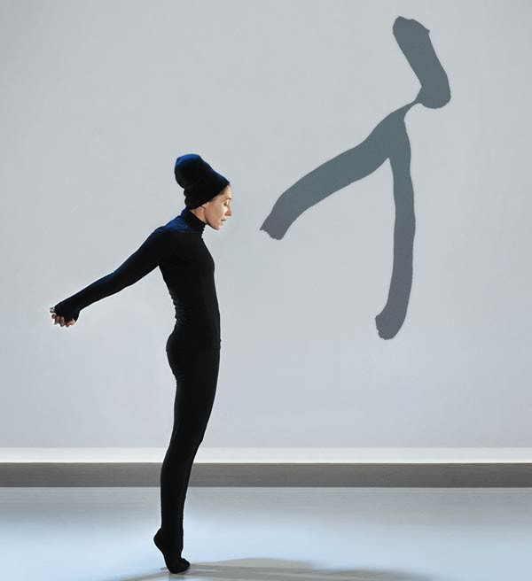 "Compagnie Marie Chouinard dancer performs ""Henri Michaux : Movements."""