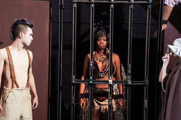 Connor Pickett, Bria Walker and Kendra Guinness in Pitt Stages' Venus