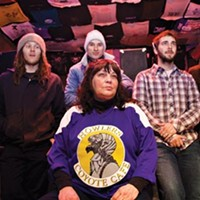 Cover charge: Booking manager Jo Albright (center), with Oklahoma City band The Uglysuit