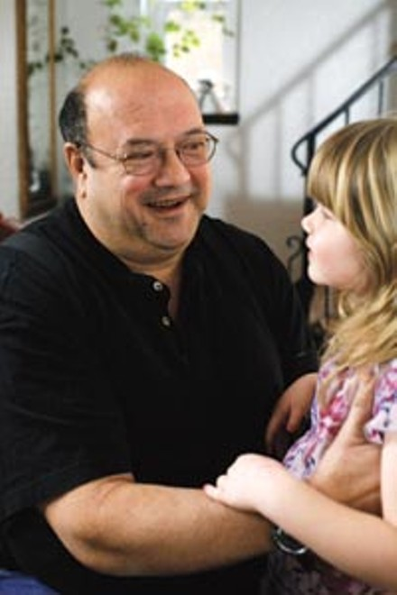 Crash survivor Ernie Russo, here with one of his three grandchildren, Rachel Summers, age 5 - HEATHER MULL