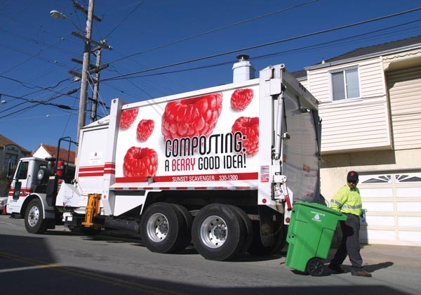 Curbside composting is mandatory in San Francisco.