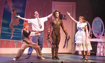 Cut-ups (from left): Gavin Eden, Scott Ambler, Richard Winsor and Etta Murfitt in Edward Scissorhands