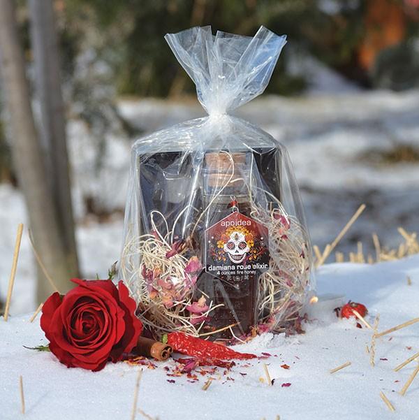 Damiana Rose elixir and chocolate