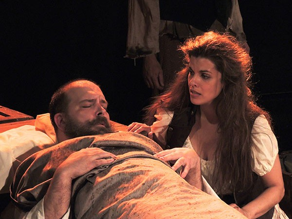 Darrel R Whitney and Zanna Fredland in The Company of Pittsburgh's Man of La Mancha.