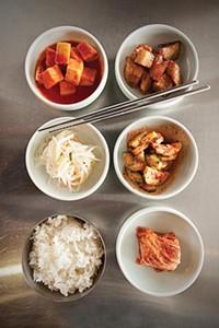 Dasonii Korean Bistro's side dishes - PHOTO BY HEATHER MULL
