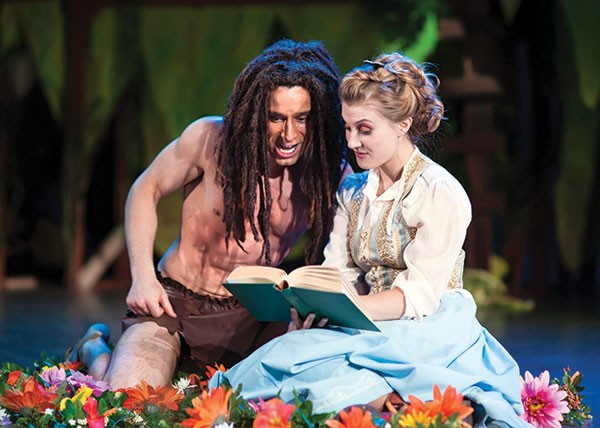 David Toole and Kathlene Toole in Pittsburgh Musical Theater's Tarzan.